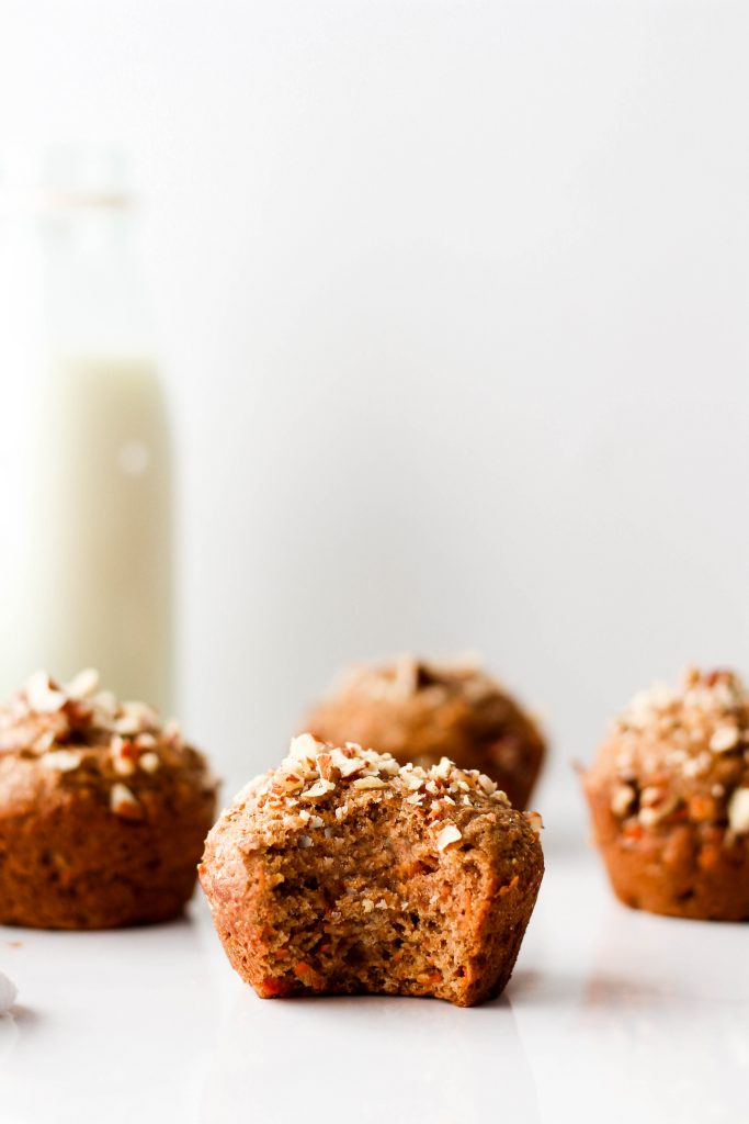 This One-Bowl Healthy Carrot Muffins recipe is easy, nutritious and so yummy! They're made with good-for-you ingredients and spiced just right.