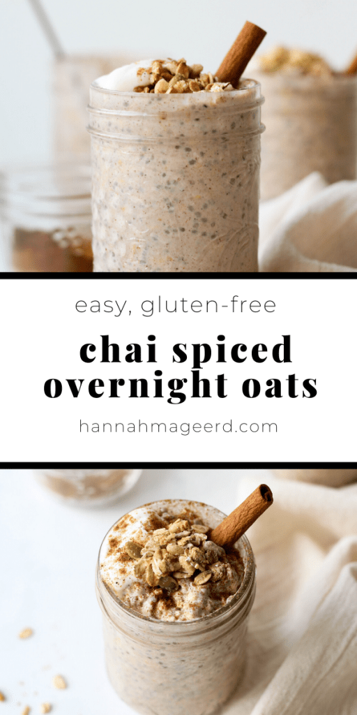 Chai Spiced Overnight Oats
