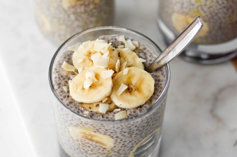 Go bananas for banana chia pudding! This quick and easy recipe takes 5 minutes to prep and makes a highly nutritious breakfast or snack that satisfies the sweet tooth. It's vegan and gluten-free, too!