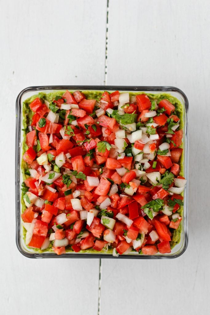 Pico layer in a pan.