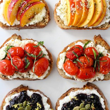 3 ways to enjoy the Ricotta Toast trend that are easy, nutritious, and equally delicious!